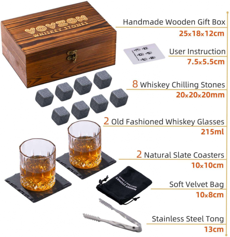 Whisky Stones &crystal Glass Set