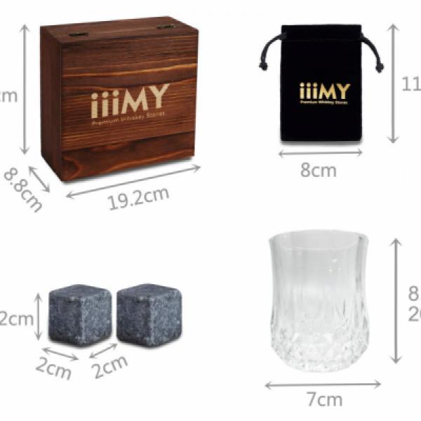 Whisky Stones & Crystal Glass Set