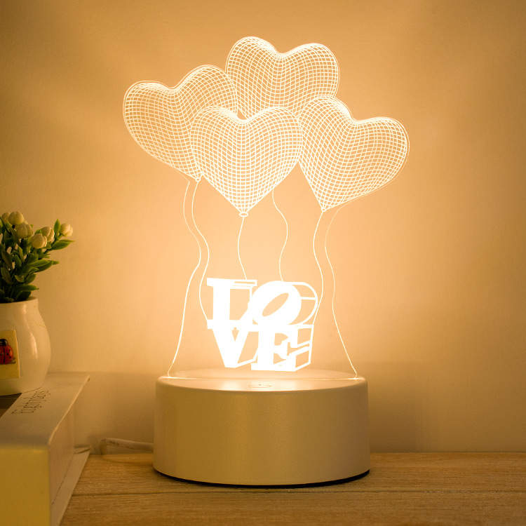 Love 3d Creative Visualization Lamp