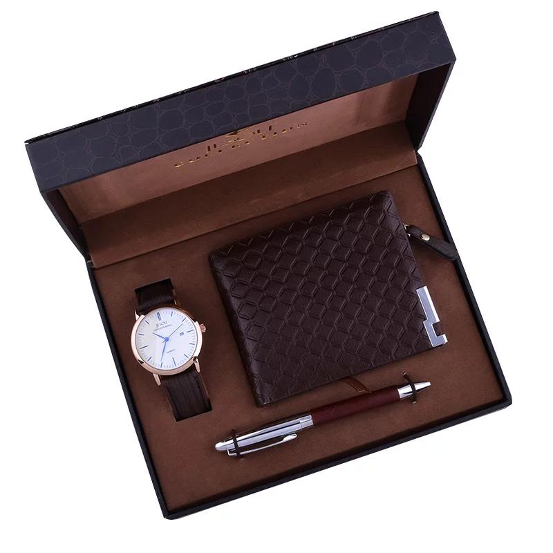 Luxury Leather Wallet,watch & Pen Set