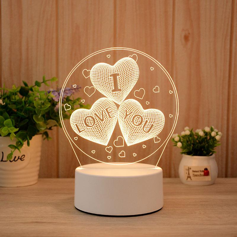 I Love You 3d Visualization Lamp