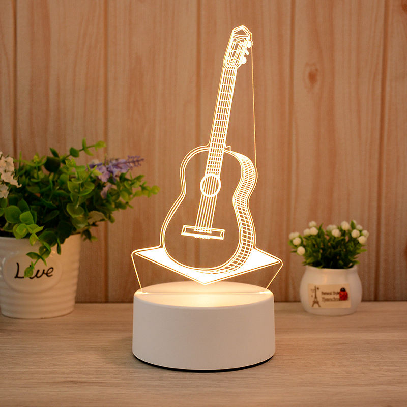 Guitar 3d Visualization Lamp
