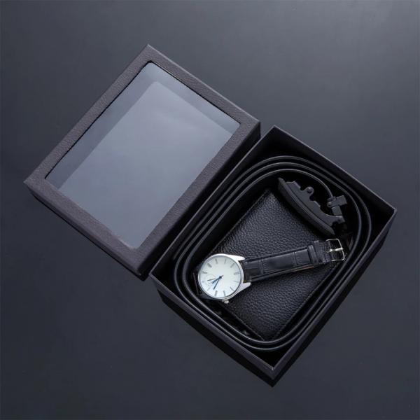 Luxury Leather Watch, Wallet & Belt Set