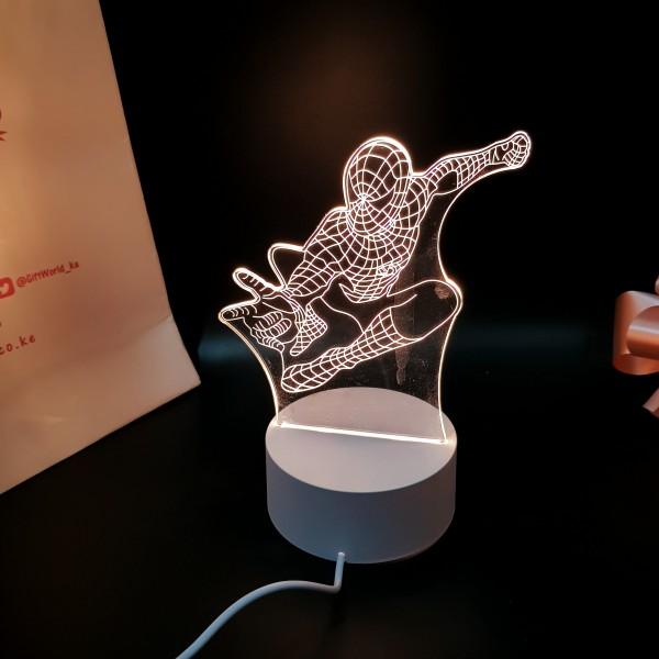 Spider Man 3d Led Illusion Lamp