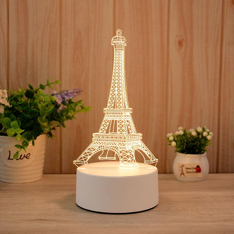 Eiffel Tower 3d Visualization Lamp