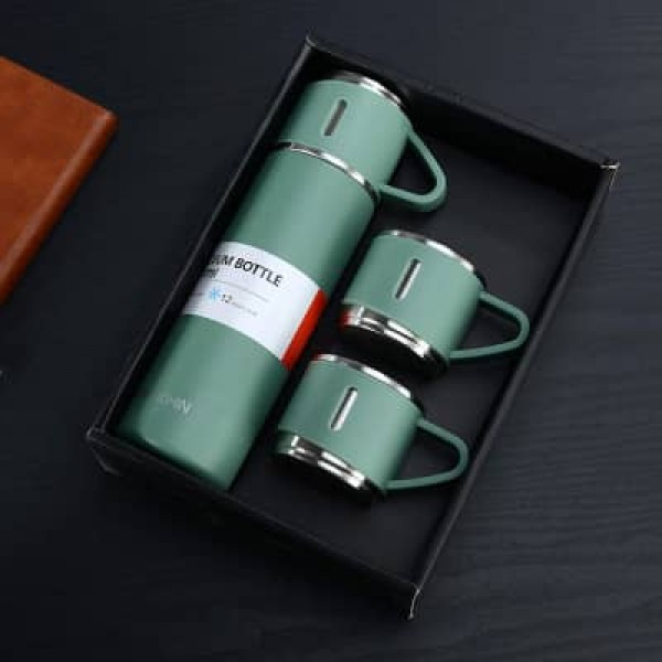 500ml Thermal Bottle+ 3mini Cups Set