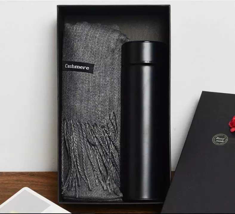Thermal Bottle & Cashmere Scarf Set