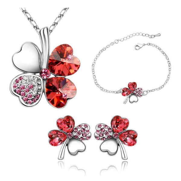 Flower Rhinestone Jewelry Set