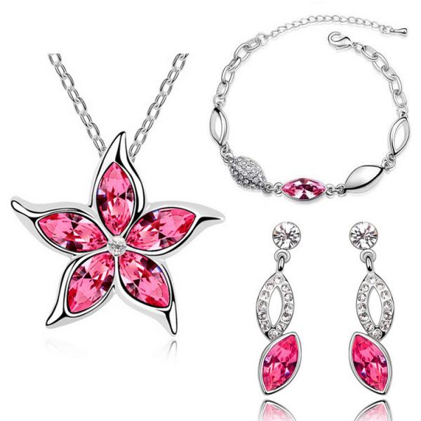Star Rhinestone Jewelry Set