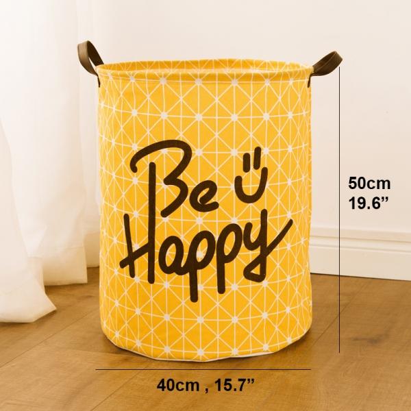 Be Happy Laundry Basket(40*50cm)