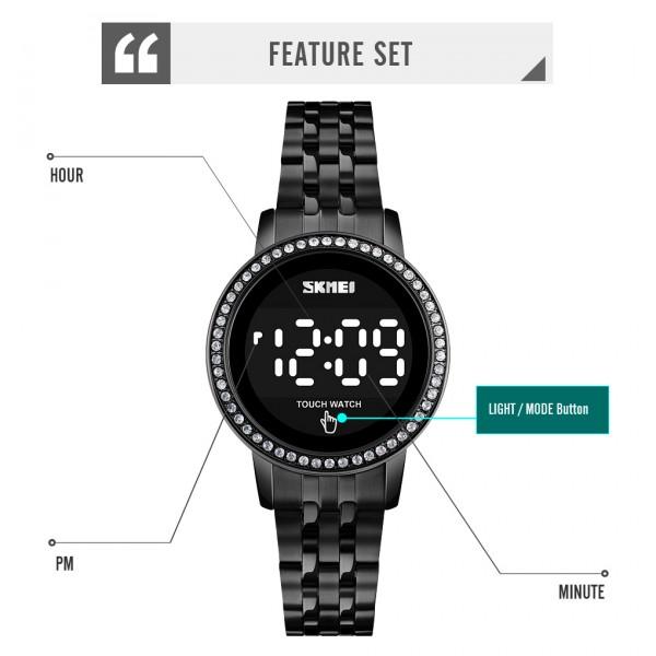 Skmei 1669 Luxury Diamond Minimalist Led Touch Watch