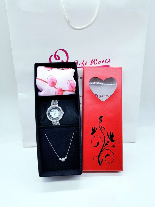 Watch, Scarf & Necklace Set