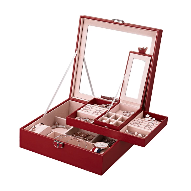 Zawadi Wine Red Jewelry Organizer