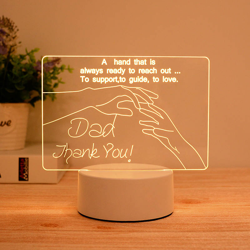 Dad Thank You 3d Led Illusion Lamp