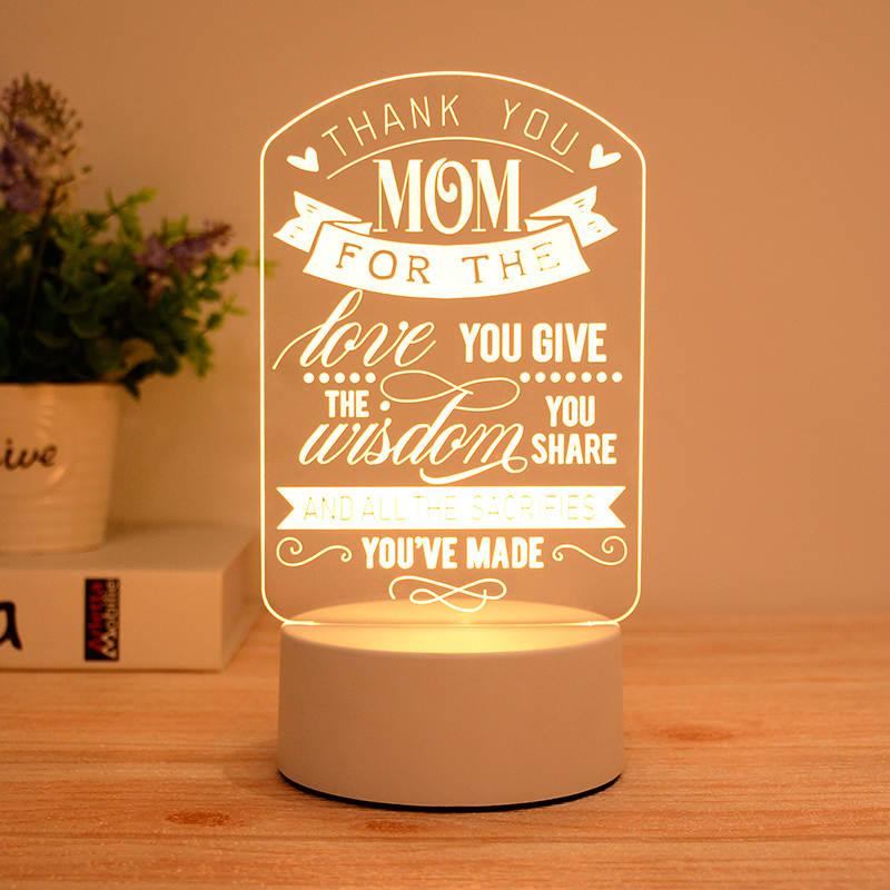 Thank You Mum 3d Led Illusion Lamp