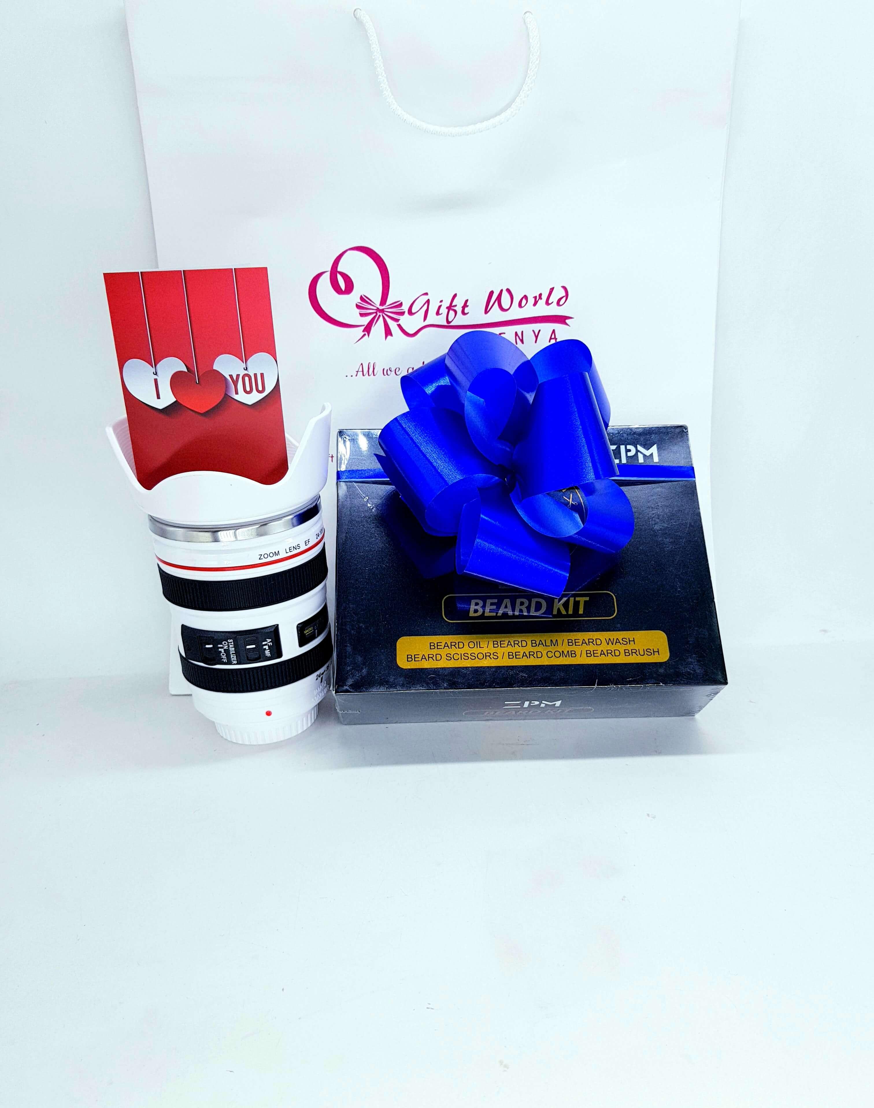 Camera Mug & Beard Kit Combo