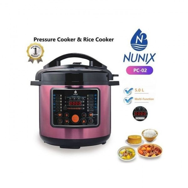 Multi-functional Electric Pressure Cooker/rice Cooker 5ltrs