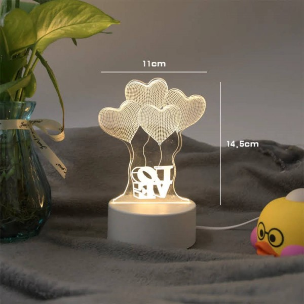 Love 3d Creative Visualization Lamp