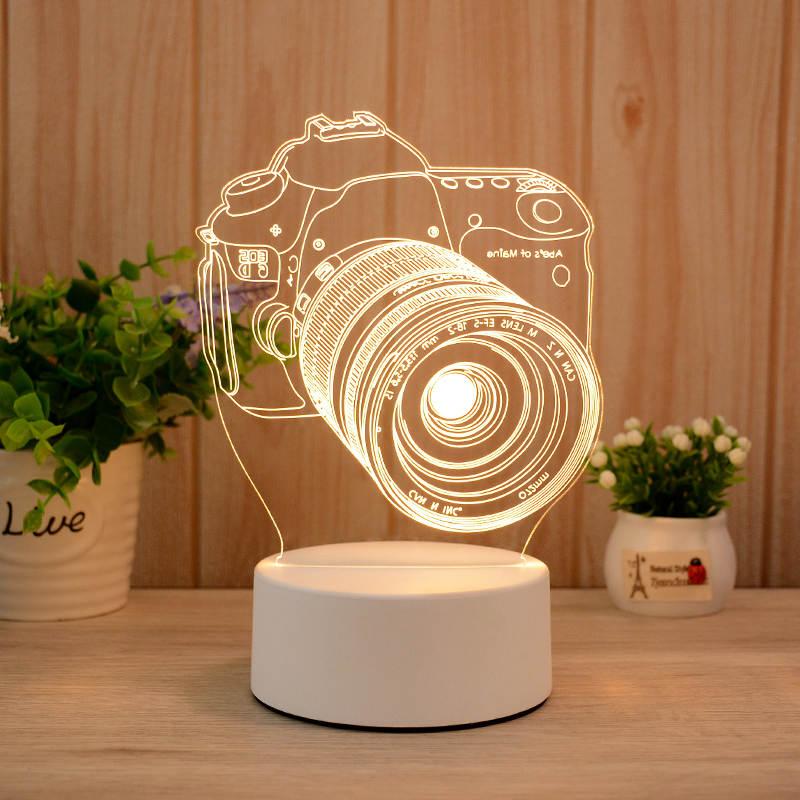 Camera Shaped 3d Led Illusion Lamp