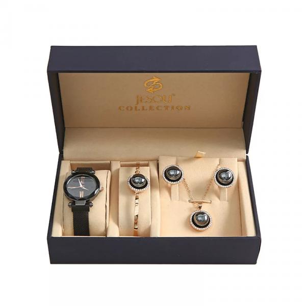 Retro Watch, Necklace, Earrings, Bracelet Gift Set
