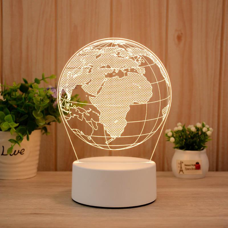 Globe 3d Led Illusion Lamp