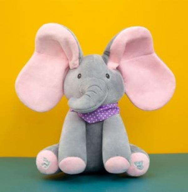Kids Peekaboo Talking Plush Elephant Toy
