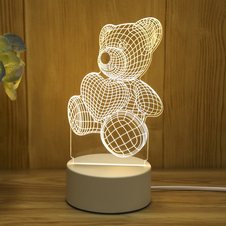 Teddy Bear 3d Visualization Lamp