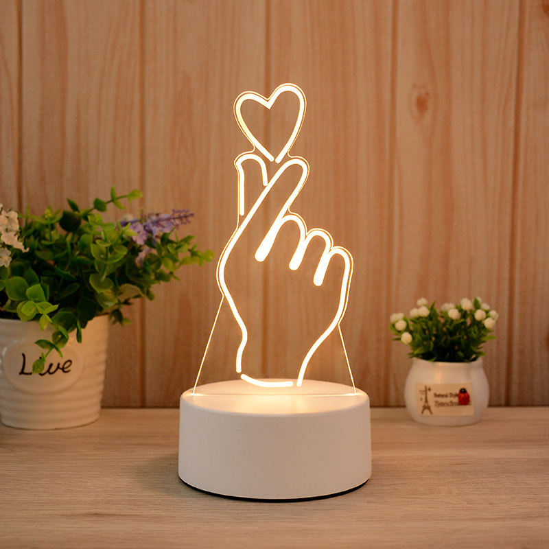 Snap Love Heart 3d Visualization Lamp