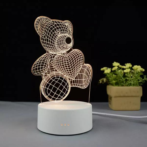 Teddy Bear 3d Visualization Lamp