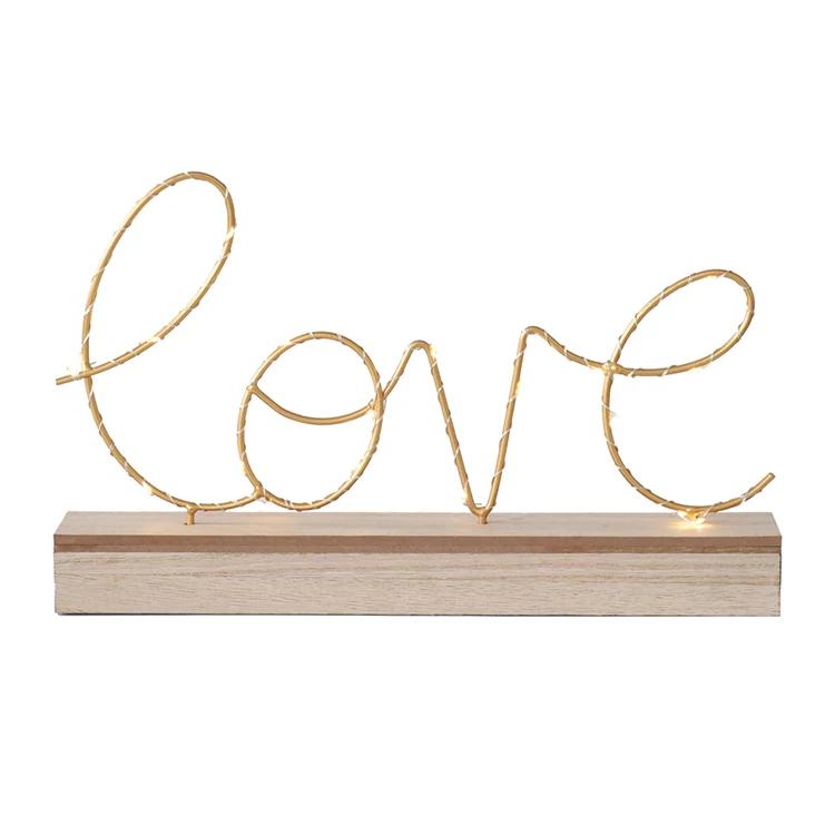 Love Led String Light Decor Stand