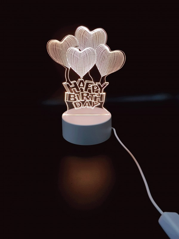 Happy Birthday 3d Visualization Lamp