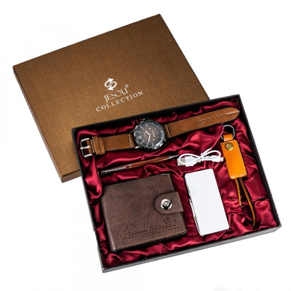 Luxury Watch, Wallet, Powerbank, Pen &keyholder Set