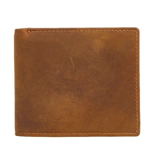 Genuine Horse Leather Rfid Blocking Wallet