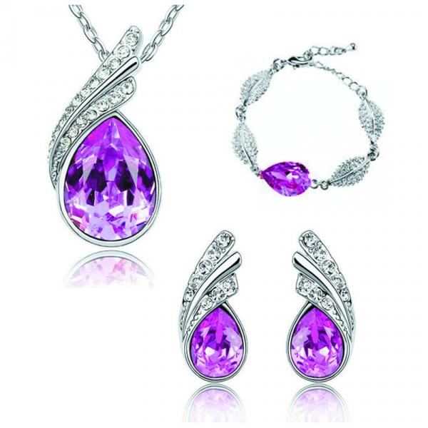 Wing Rhinestone Jewelry Set