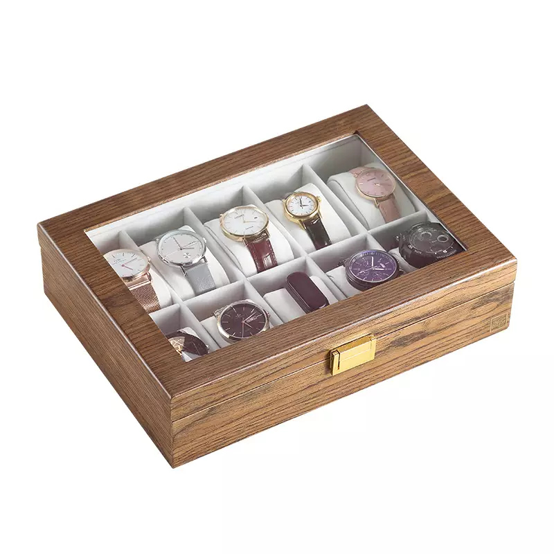Bali 10pc Luxury Wooden Watch Organizer