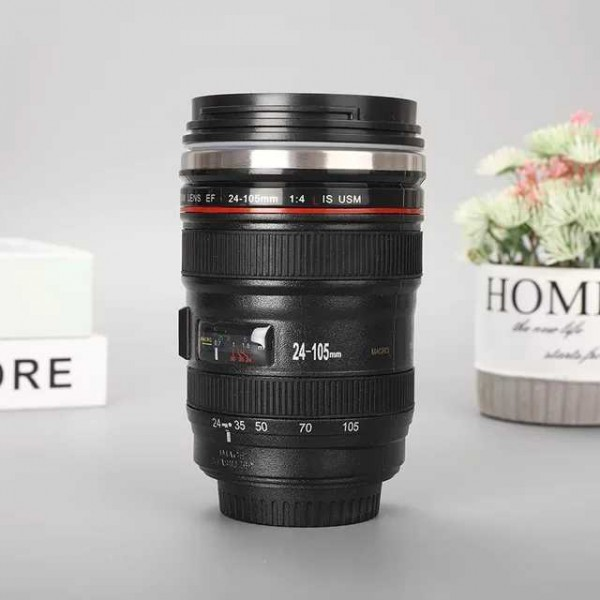 Camera Lens Shaped Thermal Mug