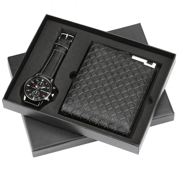 Leather Wallet & Watch Set