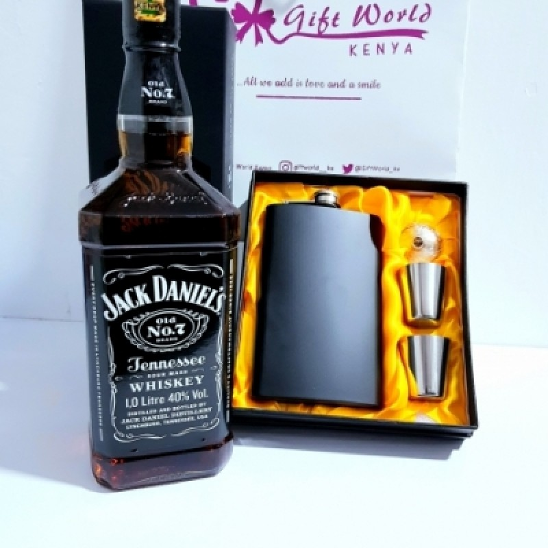 Jd & Hip Flask Set