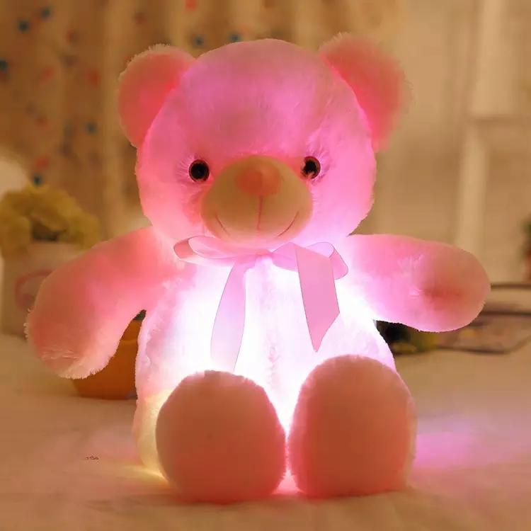 Glowing Pink Bear 50cm