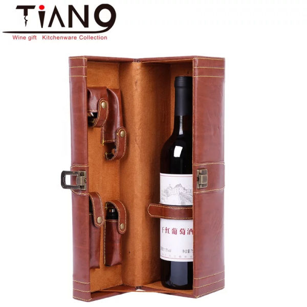 Leather Wine Accessories Case