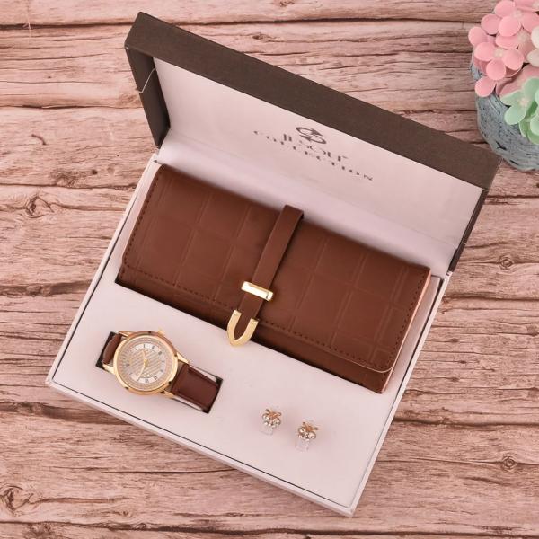 Wallet ,watch & Earrings Set