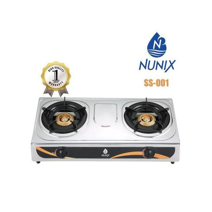 Double Burner Gas Cooker Stainless Steel